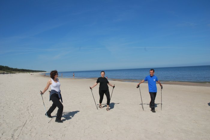 Nordic walking na plaży Diament SPA